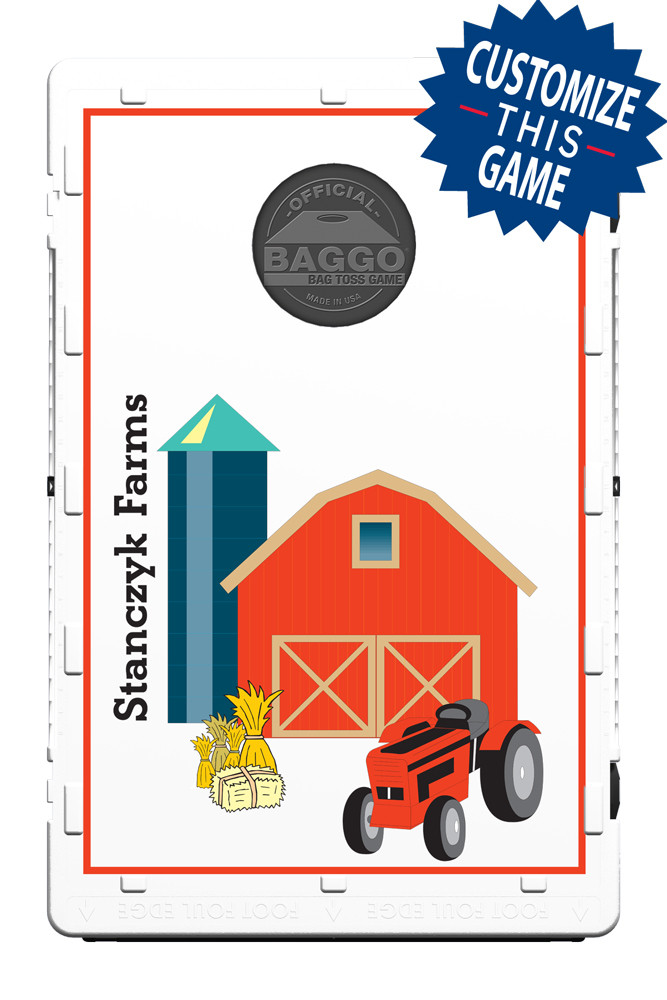 Red Barn Amp Tractor Bean Bag Toss Game By Baggo