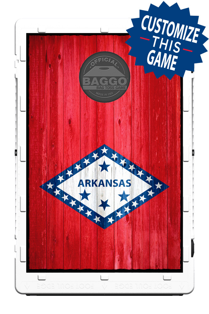 Arkansas Flag Heritage Edition Bean Bag Toss Game By Baggo
