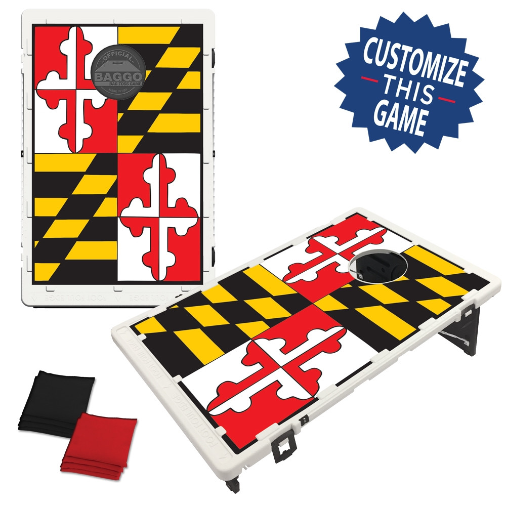 Excellent Maryland State Flag Bean Bag Toss Game By Baggo Ocoug Best Dining Table And Chair Ideas Images Ocougorg