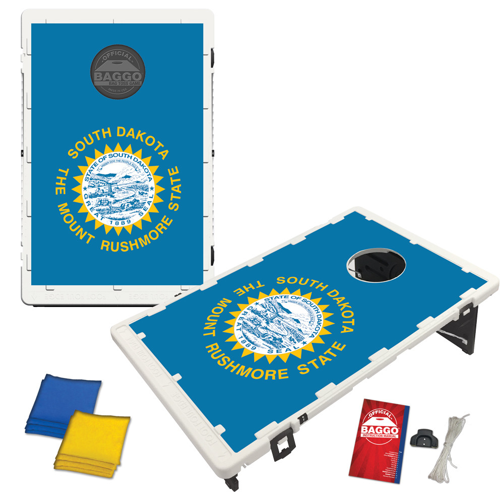 South Dakota State Flag Bean Bag Toss Game by BAGGO