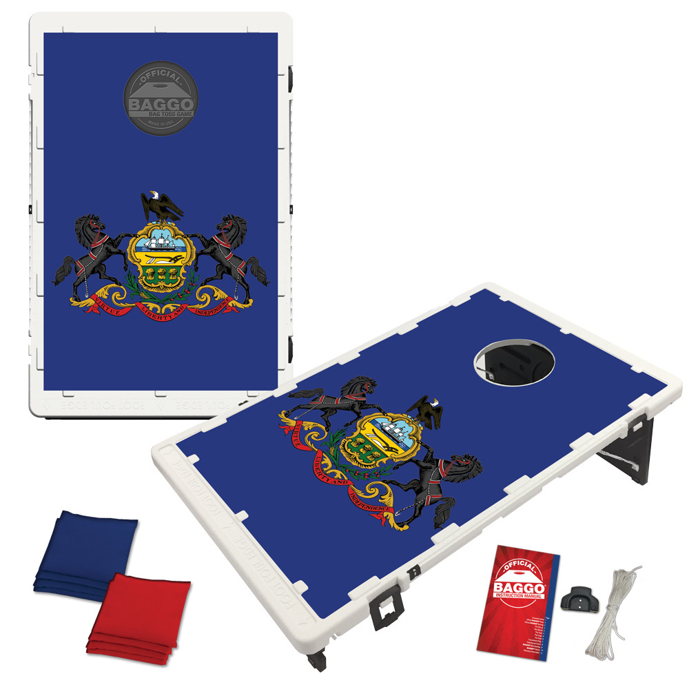 Pennsylvania State Flag Bean Bag Toss Game by BAGGO