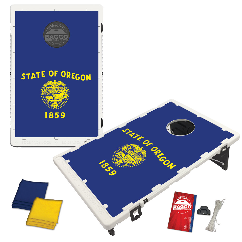 Oregon State Flag Bean Bag Toss Game by BAGGO