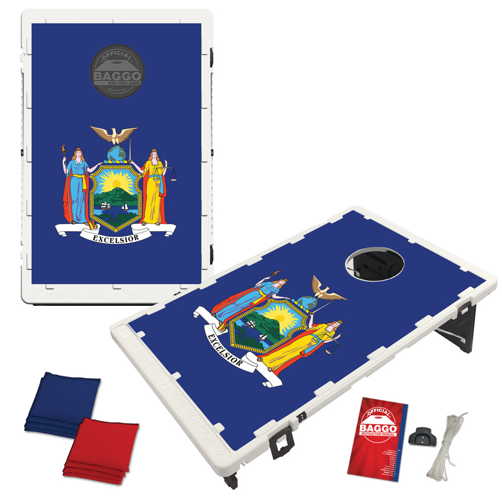 New York State Flag Bean Bag Toss Game by BAGGO
