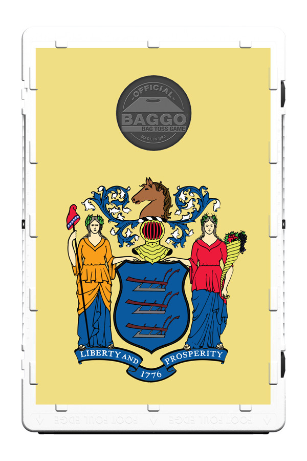 New Jersey State Flag Baggo Screens Only