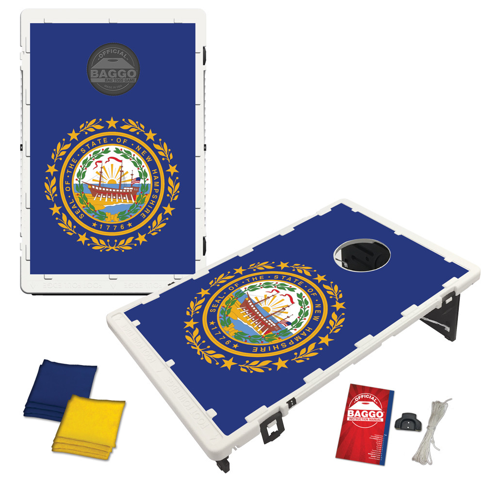 New Hampshire State Flag Bean Bag Toss Game by BAGGO