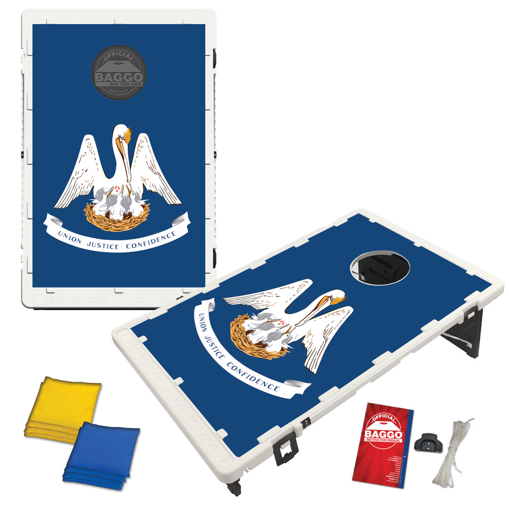 Louisiana State Flag Bean Bag Toss Game by BAGGO