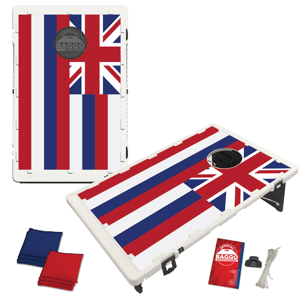 Hawaii State Flag Bean Bag Toss Game by BAGGO