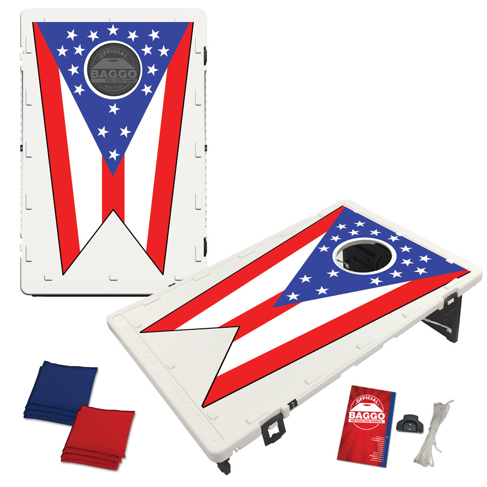 Ohio State Flag Bean Bag Toss Game by BAGGO