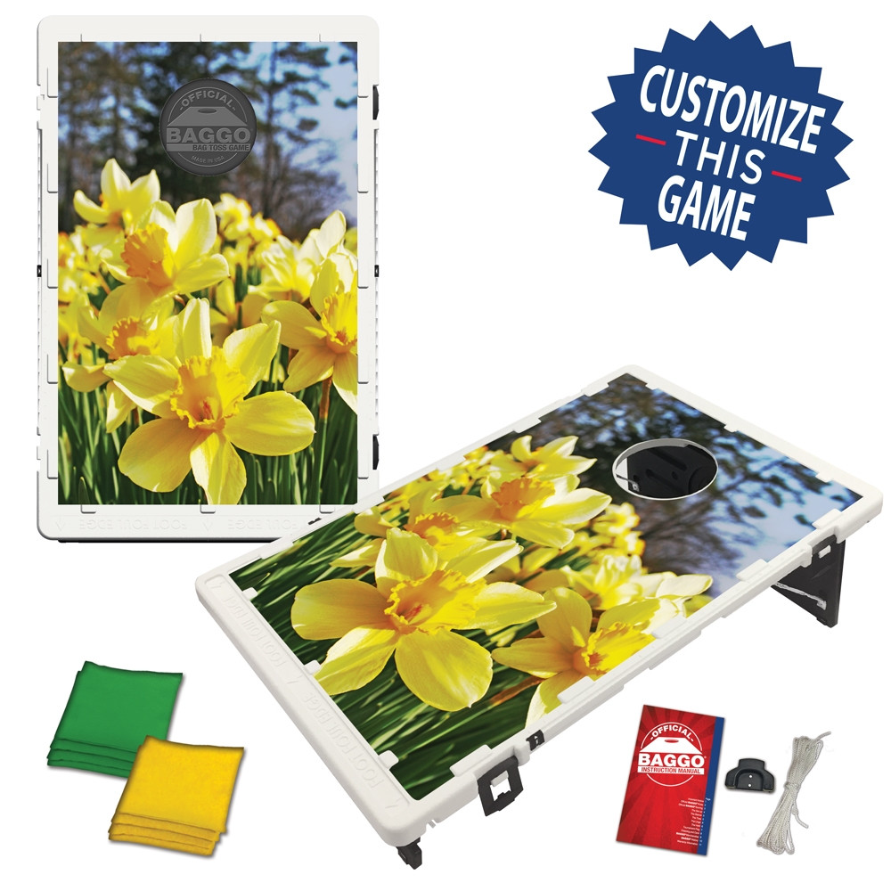 Daffodil Flowers in the Forest (setup)