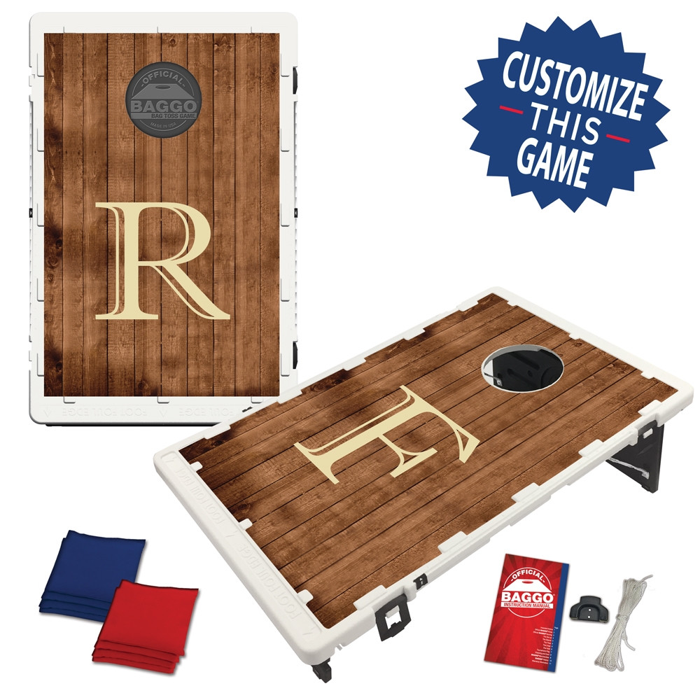 Wooden Plank Design Baggo game