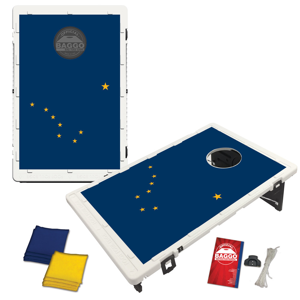 Alaska State Flag Bean Bag Toss Game by BAGGO
