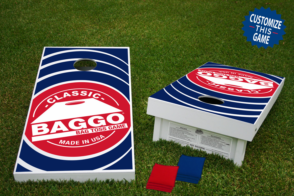 Baggo #1 Classic Official Wooden Cornhole Bean Bag Toss Tailgate Game 24x48 with 8 Official 16oz Bags