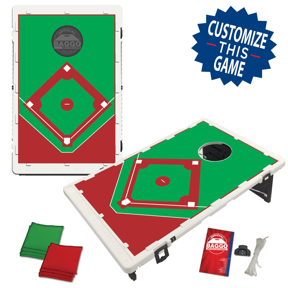 Baseball Field Bean Bag Toss Game by BAGGO