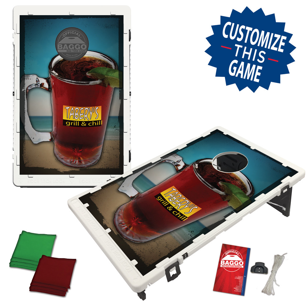 Beer In Mexico On The Beach Bean Bag Toss Game by BAGGO