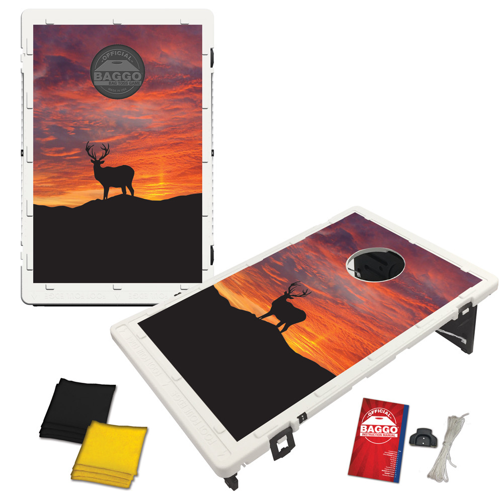Big Buck Sunrise Baggo Bag Toss Game by BAGGO