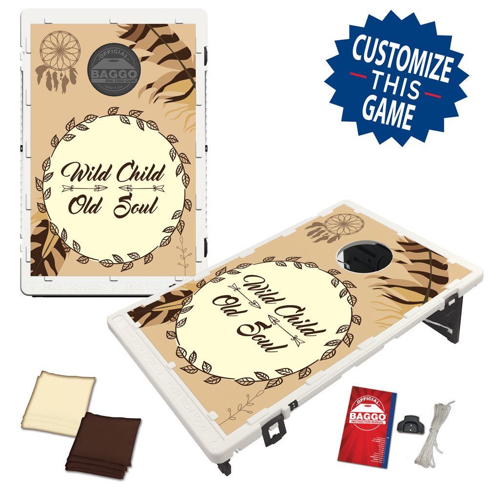Boho-Chic Bean Bag Toss Game by BAGGO