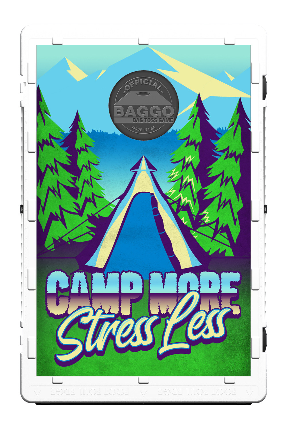 Camp More Stress Less Screens (only) by Baggo