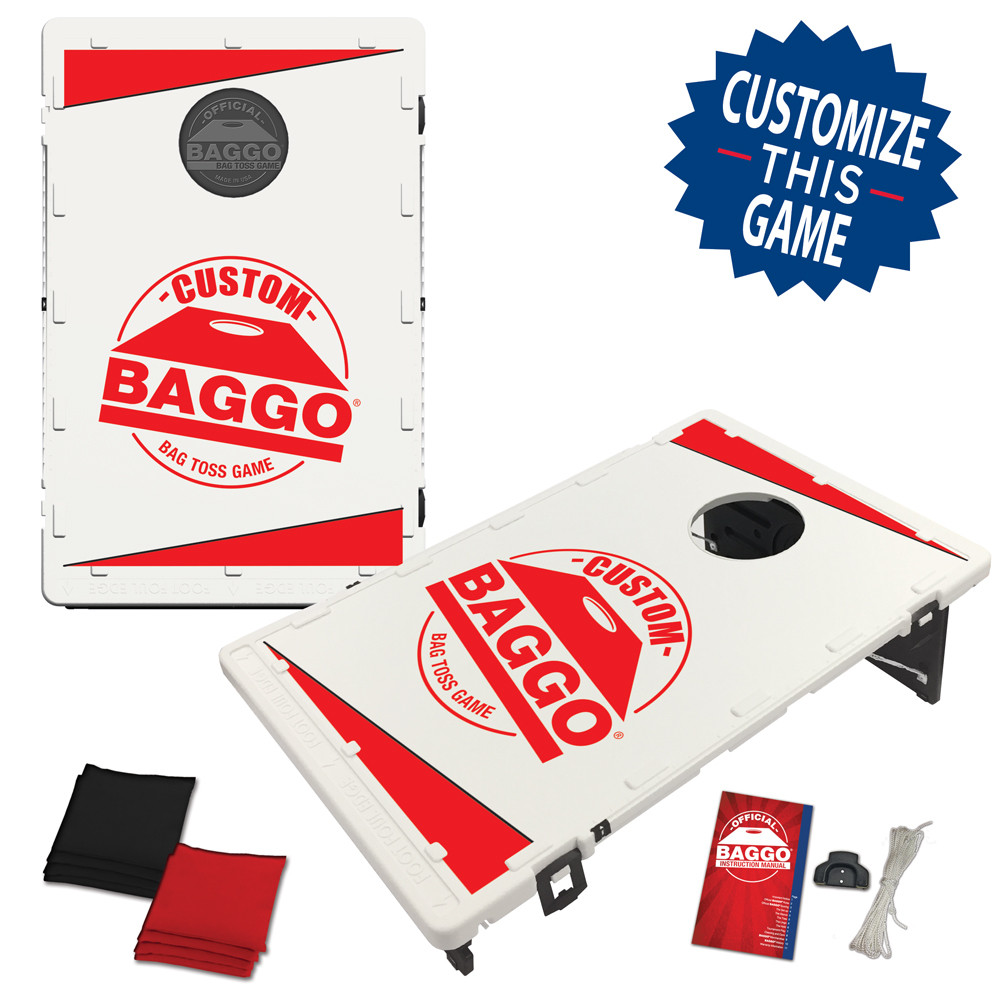Custom Baggo Featuring Your Design Bean Bag Toss Game by BAGGO