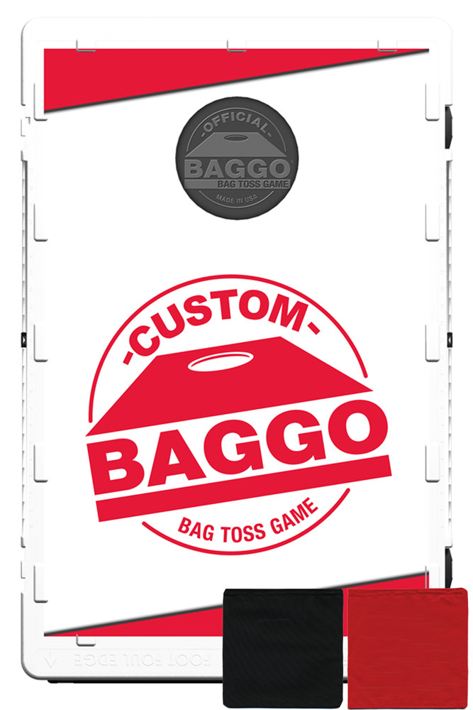 Custom Baggo (Screens & Bags Only) Featuring Your Design Bean Bag Toss Game by BAGGO