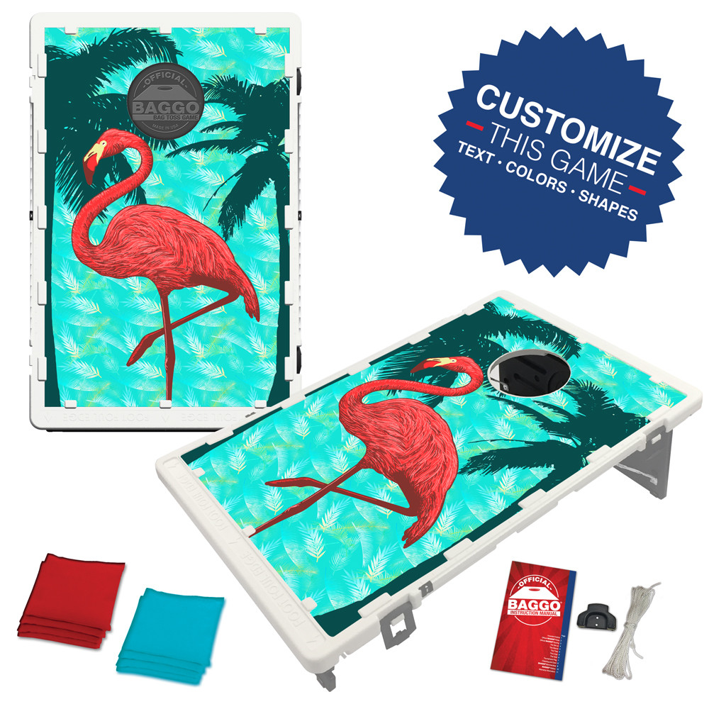 Flamingo Palm Paradise Bean Bag Toss Game by BAGGO