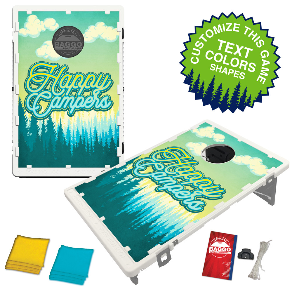 Happy Camper Tree Line Bean Bag Toss Game by BAGGO