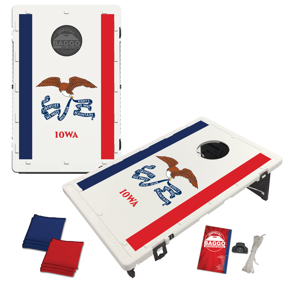 Iowa Flag Bean Bag Toss Game by BAGGO