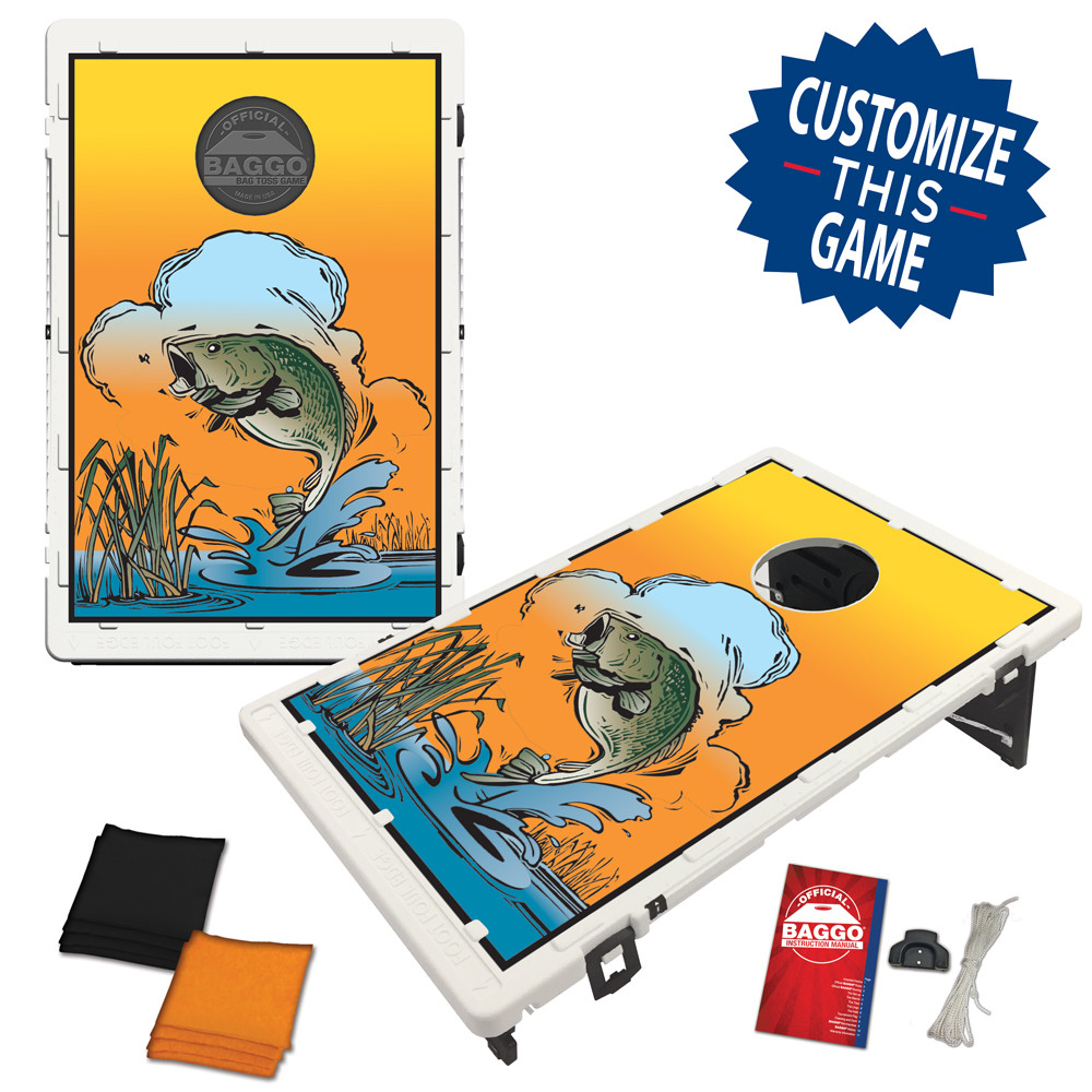 Largemouth Bass Bean Bag Toss Game by BAGGO