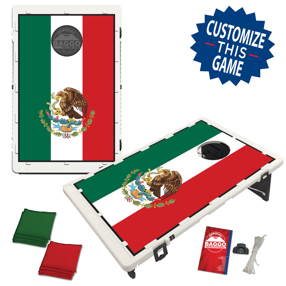 Mexico Flag Bean Bag Toss Game by BAGGO