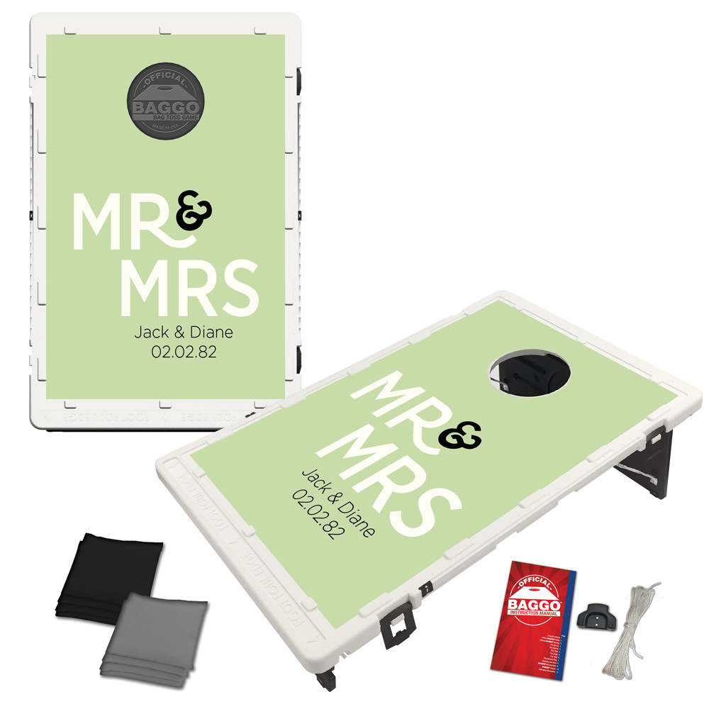 Mr. & Mrs. Custom Baggo Bag Toss Game by BAGGO