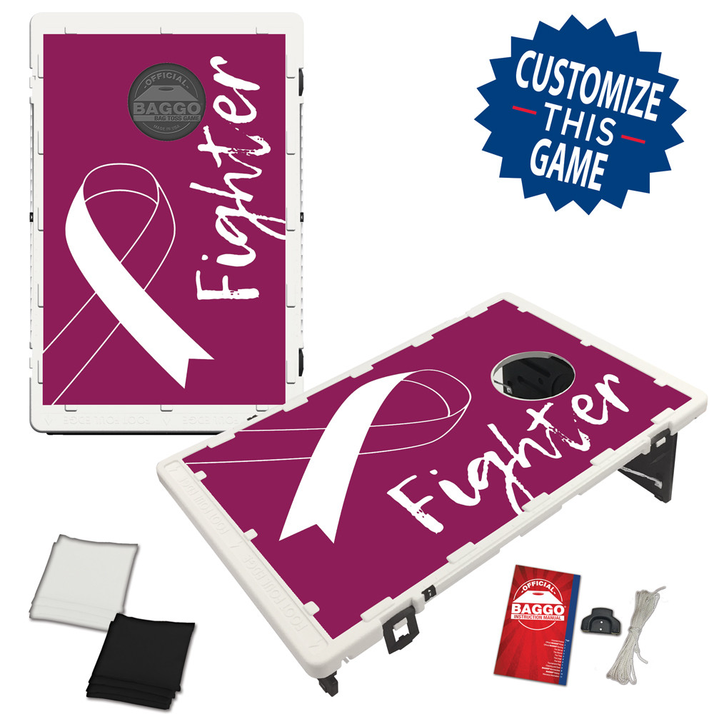 Multiple Myeloma Awareness Ribbon Bean Bag Toss Game by BAGGO