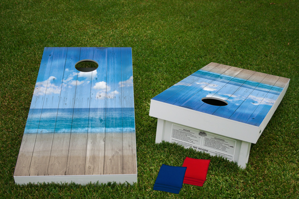 Surprising Beach Plank Regulation Cornhole Wooden Bean Bag Toss Tailgate Game 24X48 With 8 Official 16Oz Bags Evergreenethics Interior Chair Design Evergreenethicsorg