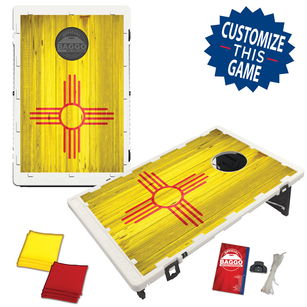 New Mexico Flag Heritage Edition Bean Bag Toss Game by BAGGO