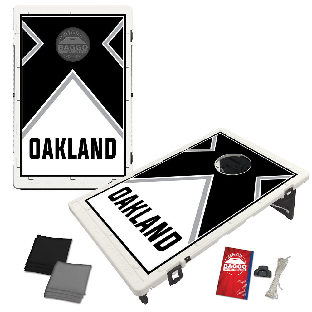 Oakland Vintage Baggo Bag Toss Game by BAGGO