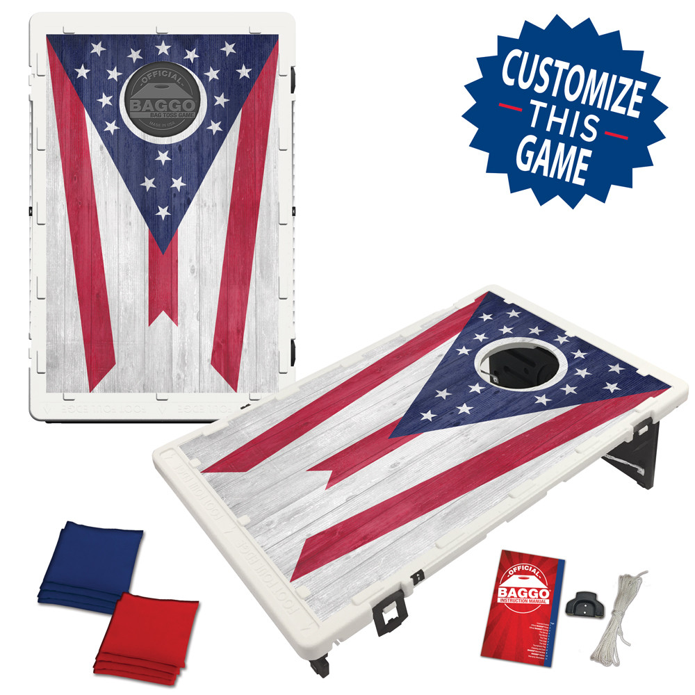 Ohio State Flag Heritage Edition Bean Bag Toss Game by BAGGO