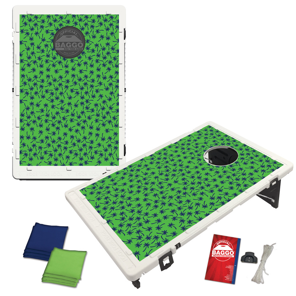 Green Palm Print Bean Bag Toss Game by BAGGO