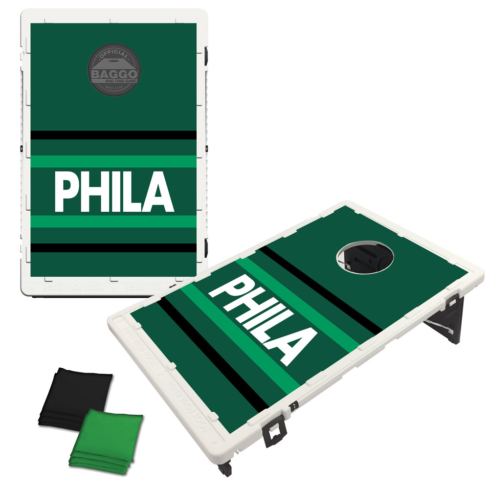 Philadelphia Green Horizon Bag Toss Game by BAGGO