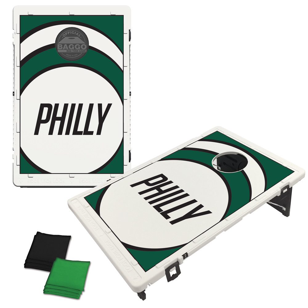Philadelphia Green Vortex Bag Toss Game by BAGGO