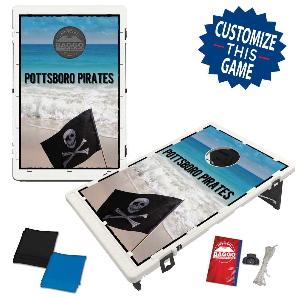 Pirate Flag Island Bean Bag Toss Game by BAGGO