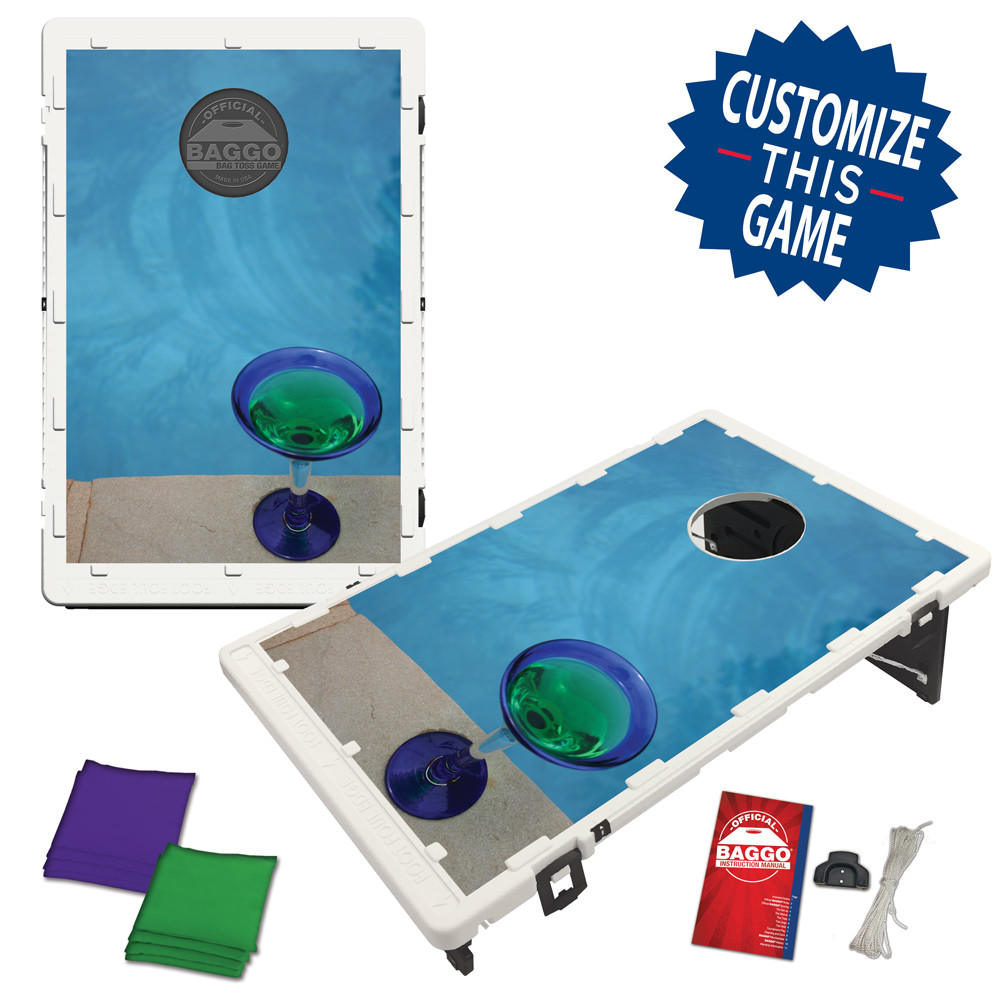 Poolside Martini Bean Bag Toss Game by BAGGO