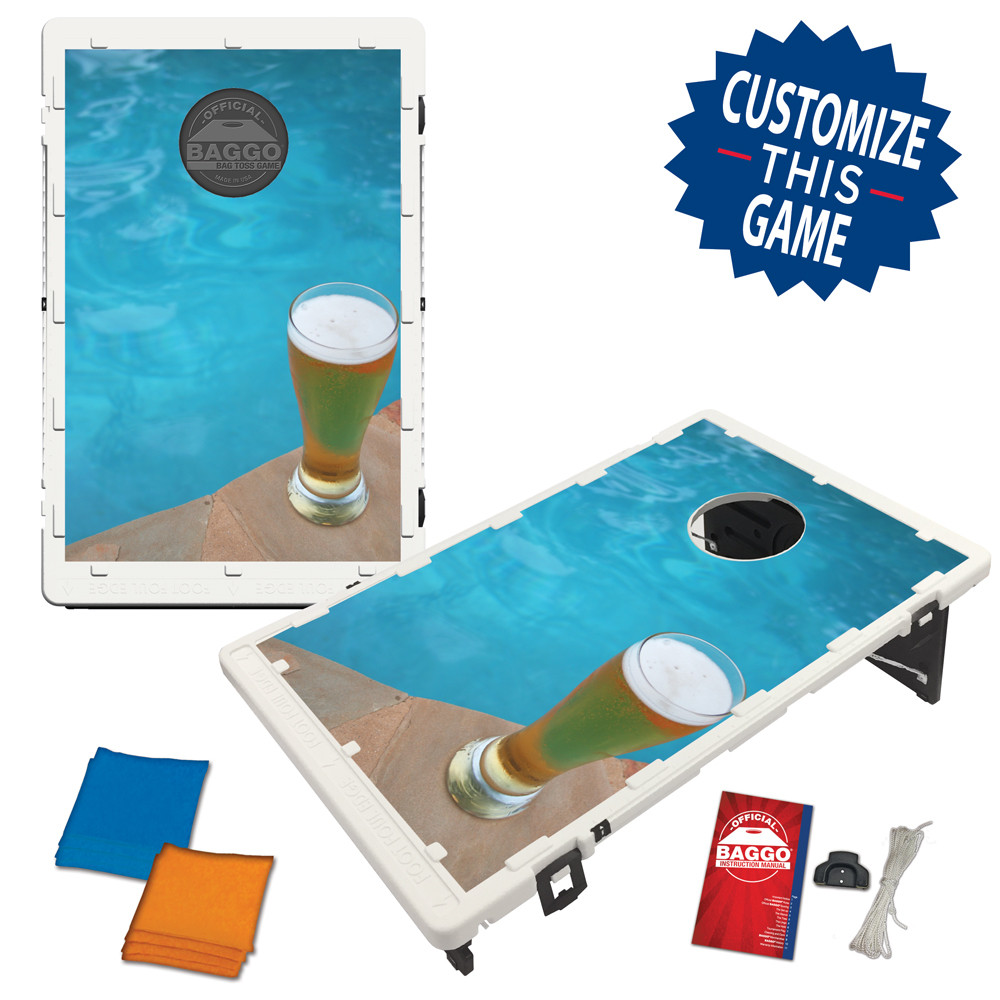Poolside Beer Bean Bag Toss Game by BAGGO