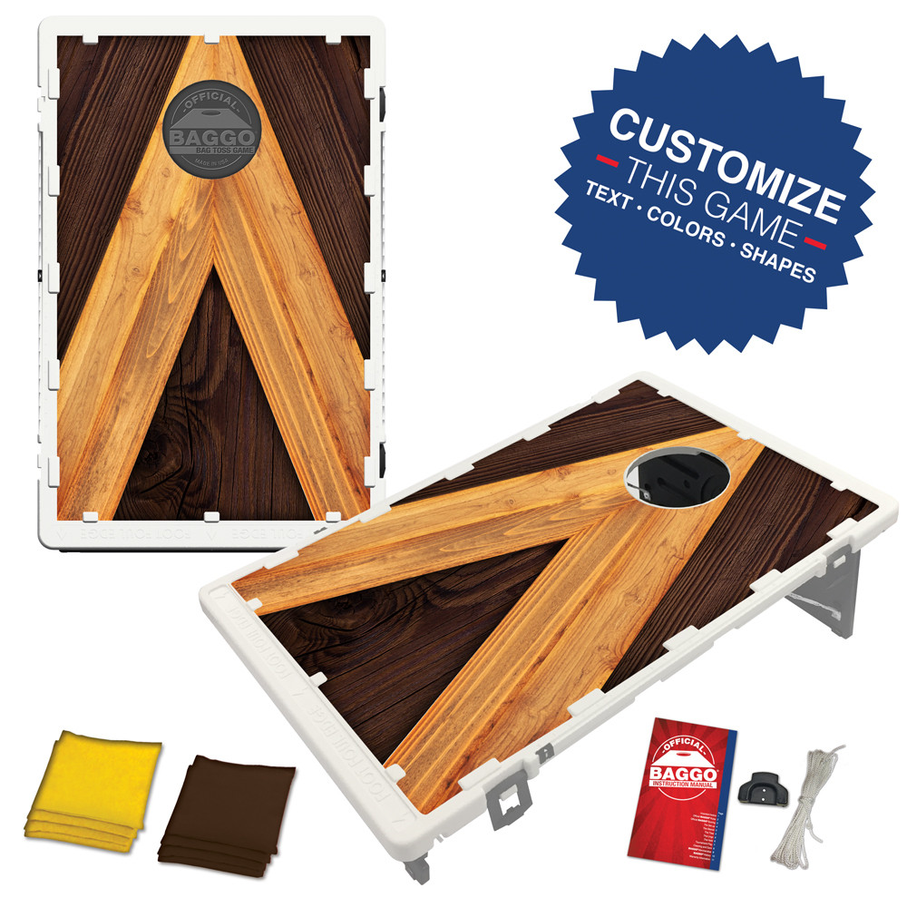 Rustic A-Frame Bean Bag Toss Game by BAGGO