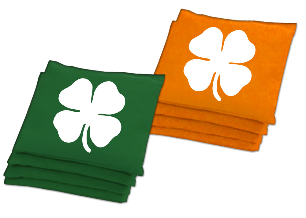 Irish Shamrock Bean Bags