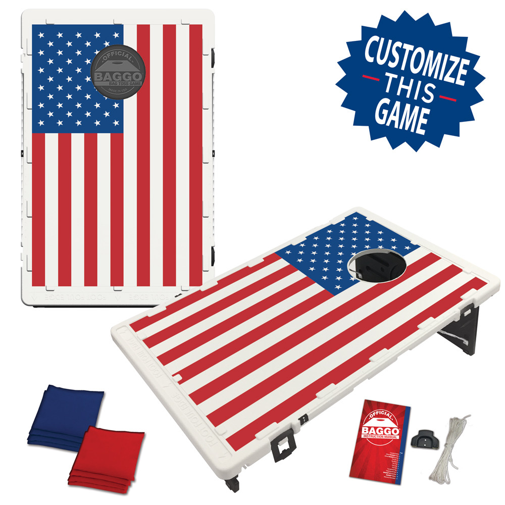 USA American US Flag Bag Toss Game by BAGGO