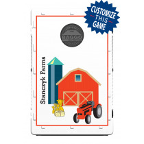 Red Barn & Tractor Screens (only) by Baggo