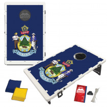 Maine State Flag Bean Bag Toss Game by BAGGO