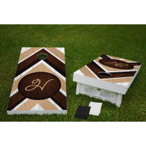 Mixed Wood Regulation Wooden Cornhole Bean Bag Toss Tailgate Game 24x48 with 8 Official 16oz Bags