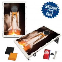 Rocket Ship Launch Bean Bag Toss Game by BAGGO