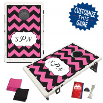 Chevron Pattern Monogram Letters With Custom Colors Bag Toss Game by BAGGO