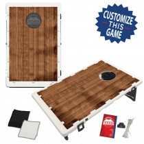 Barn Wooden Planks Design Bag Toss Game by BAGGO