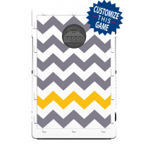 Chevron Pattern Gold/Grey Screens (only) by Baggo